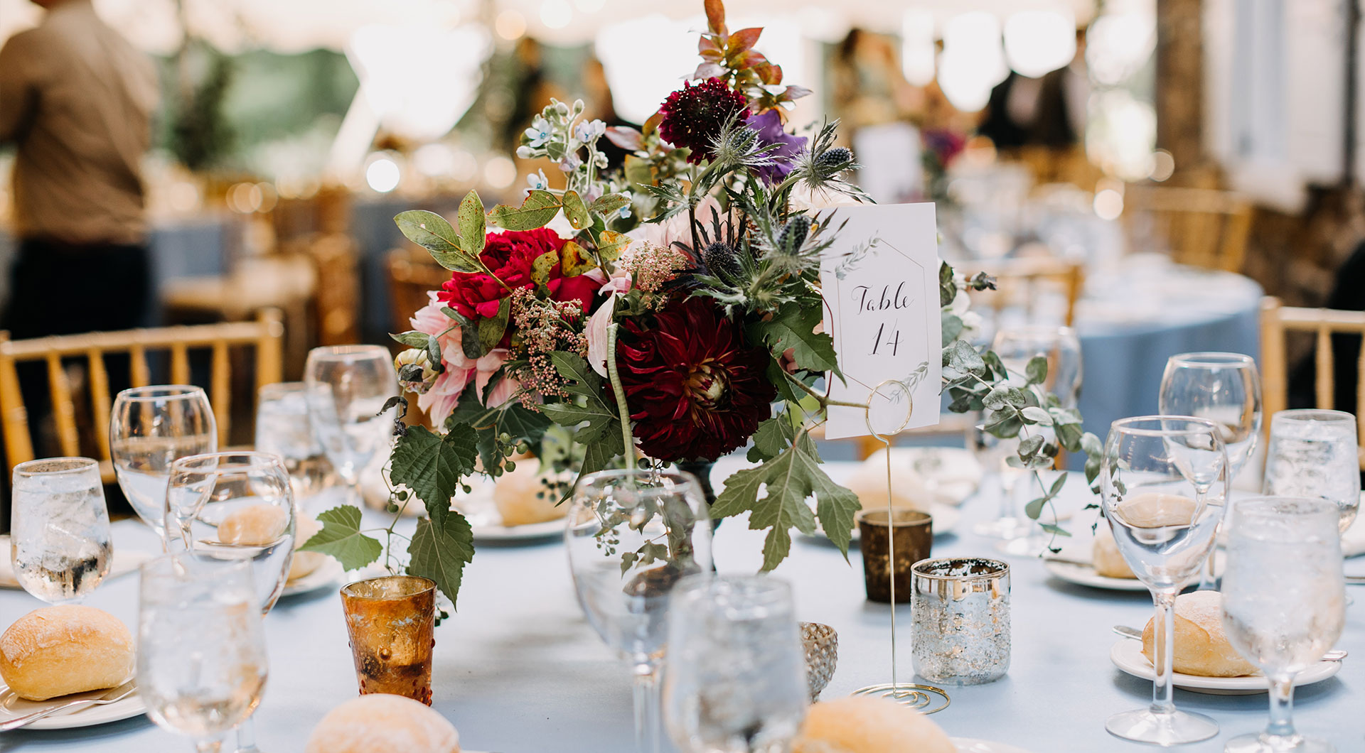 beautifully served table ready for a wedding