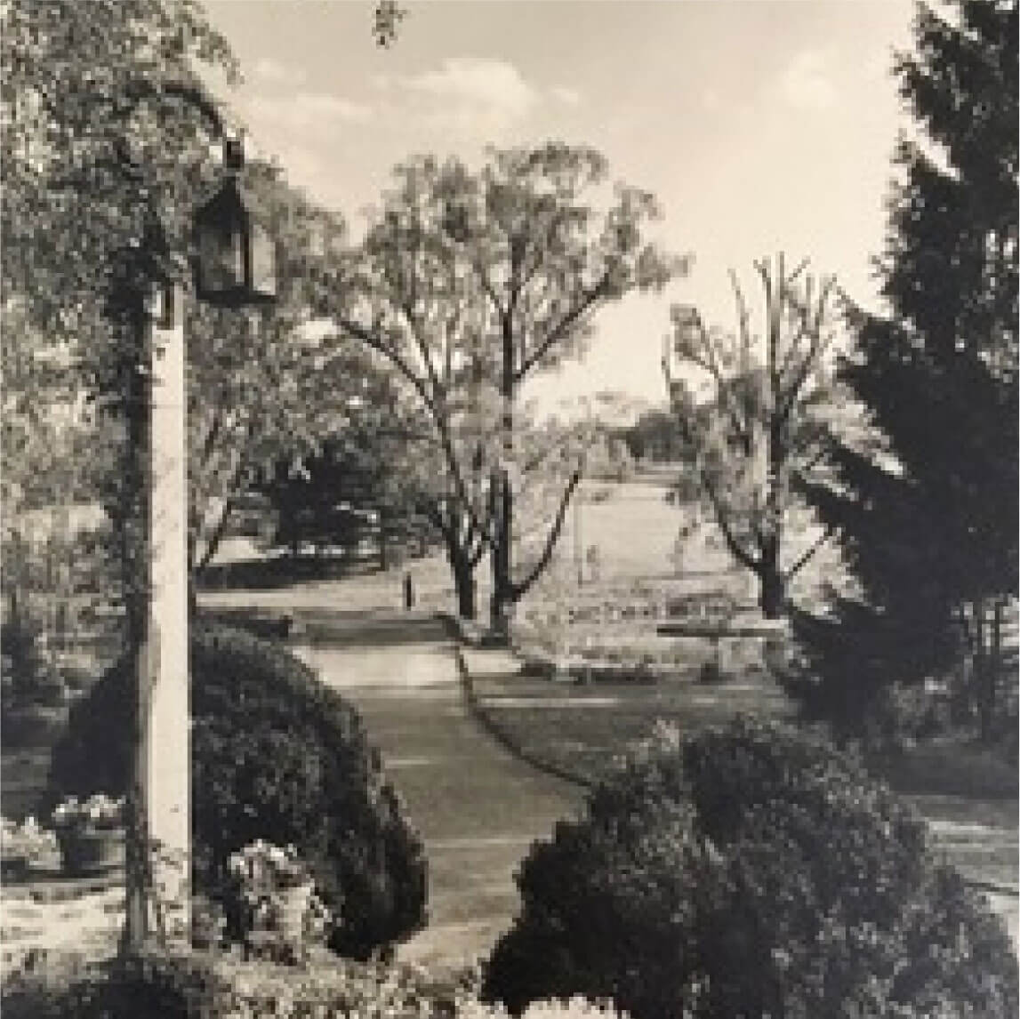 old sepia photograph of Appleford grounds